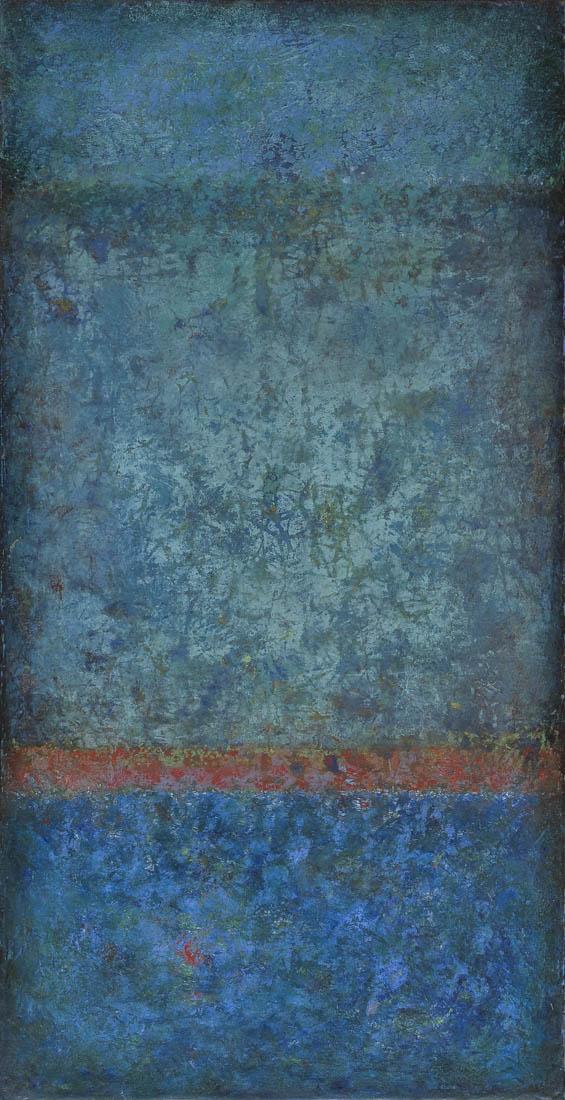 mittelblau rot mittelblau 30 x 60 x 03cm oel-kaltwachs auf buchensperrholzbox